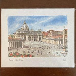 Roma - Piazza San Pietro by Magi Art Print